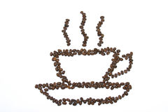 Coffee. Beans, cup of Royalty Free Stock Image