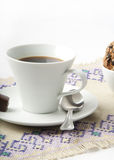 Coffee. And cake  on white background Stock Photography