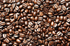 Coffee. Good brown Coffee beans surface Royalty Free Stock Images