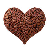 Coffee. Heart from coffee beans. isolated on white Royalty Free Stock Image