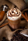 Coffee. With chocolate and cream Royalty Free Stock Photos
