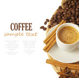 Coffee. Isolated on white background with sample text stock image