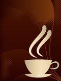 Coffee. Illustration of coffee cup with brown backgroud Royalty Free Stock Photography