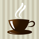 Coffee. Illustration of coffee cup with brown backgroud Stock Photos
