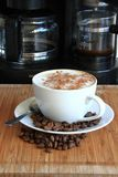 Coffee. Image of freshly made cup of cappuccino coffee Stock Photography