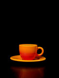 Coffee. Cup isolated on black Stock Photo