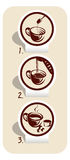 Coffee. Shown in Figure brewed coffee Royalty Free Stock Images