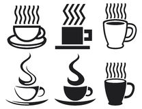 Coffee. Vector set of coffee cup icons Stock Photography