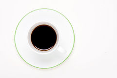 Coffee. A cup of black coffee in a cup on white Royalty Free Stock Photos