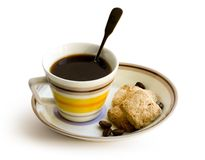 Coffee. Cup of black coffee on white background Stock Photo
