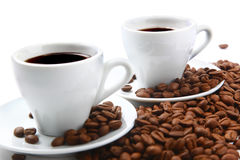 Coffee. Aroma background beans, coffee, cappuccino, beverage spirits, beans Stock Photography