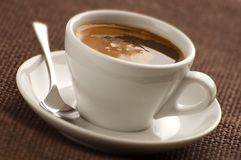 Coffee. Cup of hot coffee close up shoot royalty free stock photos