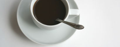 Coffee 3. A cup of coffee with white background royalty free stock photos