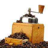 Coffee. Grinder and beans royalty free stock image
