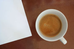 Coffee. With book used at run time Royalty Free Stock Photo