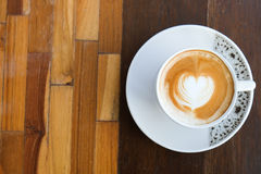 Coffee. A Heart in a cup of coffee Royalty Free Stock Images