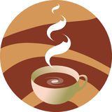 Coffee. Vector illustration - cup hot coffee Stock Photos