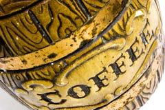 Coffee. Antique ceramic coffee jar Stock Image