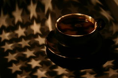 Coffee. A coffee-cup in starlight Royalty Free Stock Photography