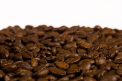 Coffee. Close up pictures of coffee beans with white background Royalty Free Stock Photos