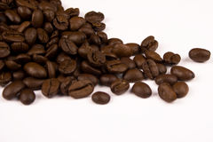 Coffee. Close up pictures of coffee beans with white background Stock Photos
