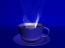 Coffee. Cup With Steam Stock Photography