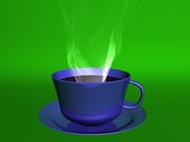 Coffee. Steamy cup of coffee Royalty Free Illustration