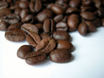 Coffee. Beans close-ups Stock Photography