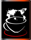 Coffee. Cup of coffee whit black background Stock Photo
