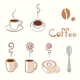 Coffee. Vector illustration; design element; cup of coffee Stock Images