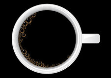 Coffee. Vector illustration of a cup of coffee from the top Royalty Free Stock Photo