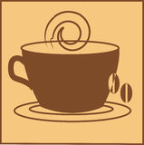 Coffee. Vector illustration of cup of coffee Royalty Free Stock Photography