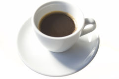 Coffee. Cup of coffee isolated over white background Stock Images