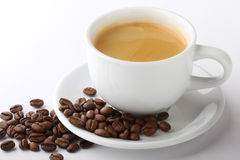 Coffee. Cup of coffee with coffee bean Royalty Free Stock Photo