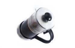 Coffee. French press coffee maker on a white background Royalty Free Stock Images