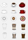 Coffee. Cup, color and outline Stock Photography
