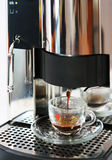 Coffee. Machine with cup of fresh Royalty Free Stock Photo