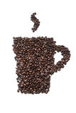 Coffee. Coffee bean close up isolated against white background Stock Images