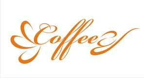 Coffee. Text vector interesting design Stock Images