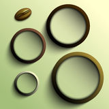 Coffee abstract circles with place for your text Royalty Free Stock Image