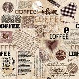 Coffee. Abstract coffee beans on brown background Stock Photos