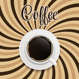 Coffee abstract hypnotic background. vector Stock Image