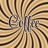 Coffee abstract hypnotic background. vector Stock Images