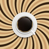Coffee abstract hypnotic background. vector Stock Photos