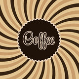 Coffee abstract hypnotic background. vector Royalty Free Stock Photo