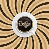 Coffee abstract hypnotic background. vector Royalty Free Stock Image