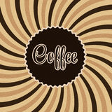 Coffee abstract hypnotic background. vector Royalty Free Stock Photos