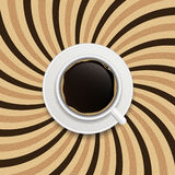 Coffee abstract hypnotic background. vector Stock Photography