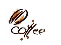 Coffee abstract symbol Stock Photo