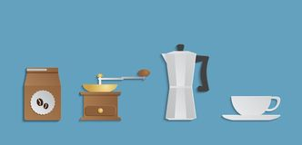 COFFEE accessories set Stock Photography